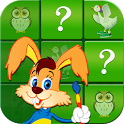 Matching animals: memory game icon
