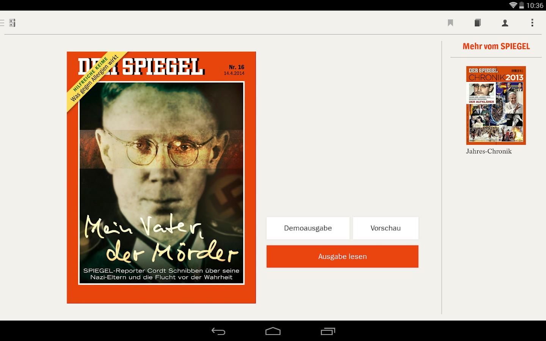 Der spiegel android apps auf google play for Der spiegel aktuelle ausgabe