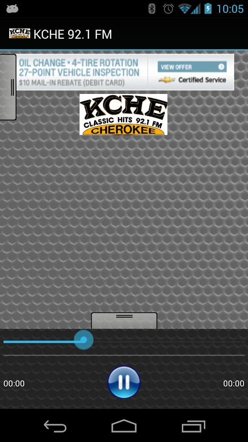 KCHE 92.1 FM - screenshot