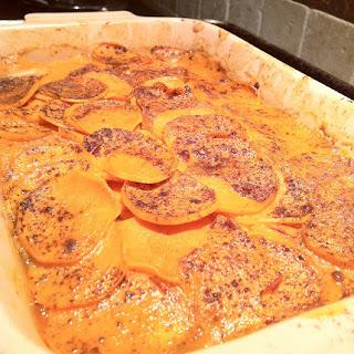 Spicy Sweet Potato-Coconut Gratin.