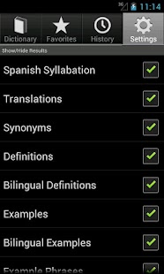 English Spanish Dictionary - screenshot thumbnail