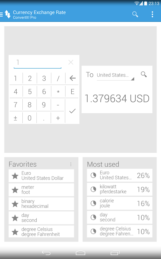 ConvertIt! Unit Converter - screenshot