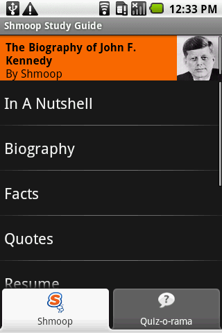 John F. Kennedy: Shmoop Guide - screenshot