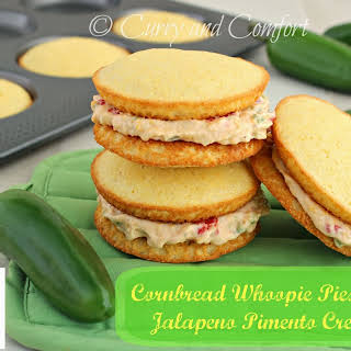 Cornbread Whoopie Pies with Jalapeno Pimento Cheese.