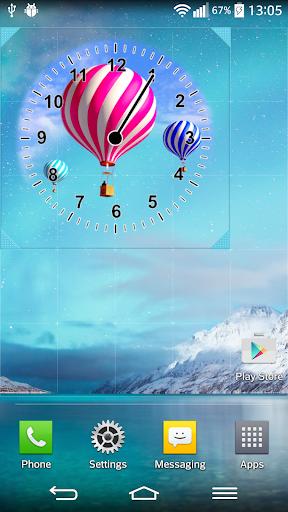 熱気球 時計
