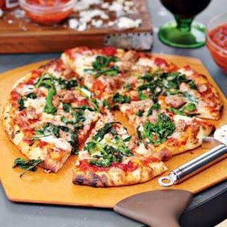 Salsiccia Pizza with Broccoli Rabe.