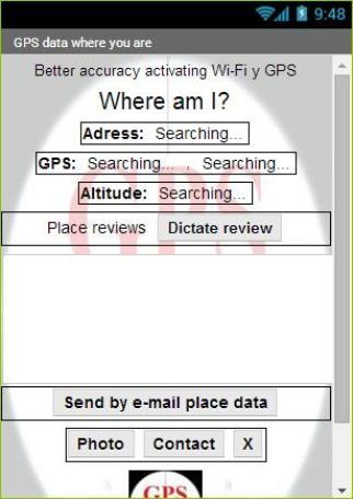 GPS data where you are