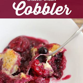 Cake Mix Cobbler.
