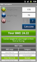 Screenshot of BMI Calculator - Weight Loss