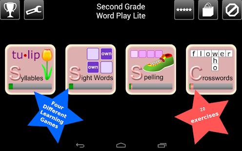 Second Grade Kids Words Lite