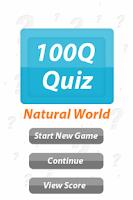Screenshot of Natural World - 100Q Quiz