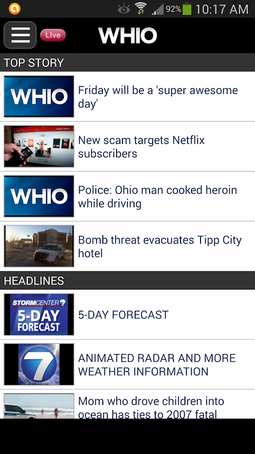 WHIO - screenshot
