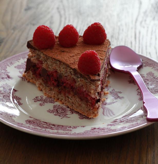 Raspberry and Dark Chocolate Dacquoise Recipe