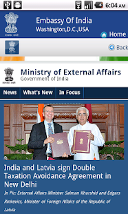 Embassy of India Washington - screenshot thumbnail