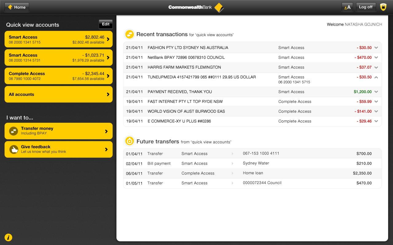 NetBank - screenshot