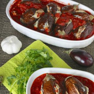 Miniature Stuffed Eggplants-Gluten Free