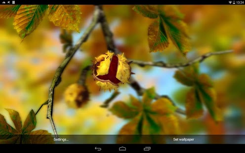 Autumn Leaves in HD Gyro 3D XL  Parallax Wallpaper- screenshot thumbnail