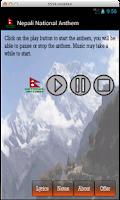 Screenshot of Nepali National Anthem