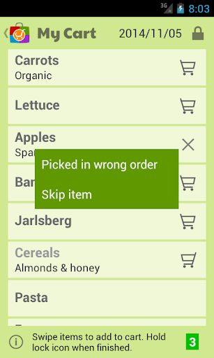 Markit Grocery Shopping List