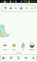 Screenshot of 아기공룡용용 냉장고 도돌런처 테마