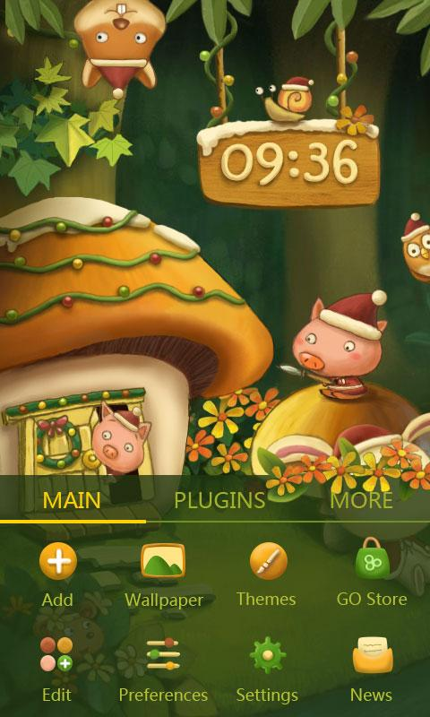 Hedva's Xmas Dynamic Theme - screenshot