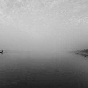 Sailing by Kingshuk Mondal - Black & White Landscapes ( sundarban, black & white, forest, landscape, mangrove, river )