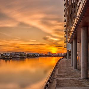 Media City Bridge Sunset.jpg