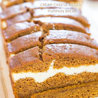 Cream Cheese-Filled Pumpkin Bread.
