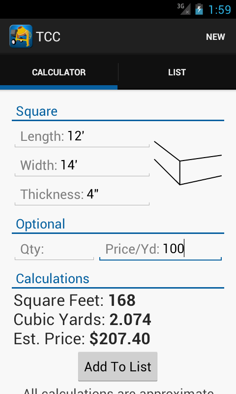 Total Concrete Calculator Tcc Android Apps On Google Play