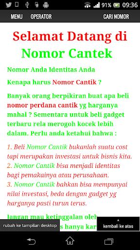 Nomor Cantek