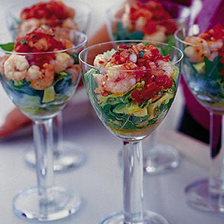 Spicy Prawn Cocktail With Tomato & Coriander Dressing