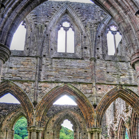 Tintern Abbey - Interior View by Skye Ryan-Evans - Buildings & Architecture Places of Worship ( contemplative orders, religious orders, tintern abbey, benedictine monastery, monasteries, abaty tindern, catholic church, cistercian monks, welsh monastery, abbeys )