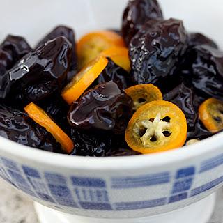 Poached Prunes and Kumquats.