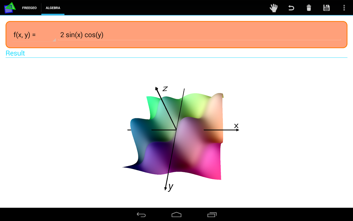 FreeGeo Mathematik – Screenshot