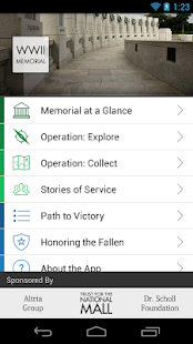 World War II Memorial App- screenshot thumbnail