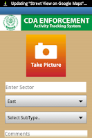 Screenshot of CDA Tracking System