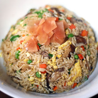 Mushroom Fried Rice with Pickled Ginger.