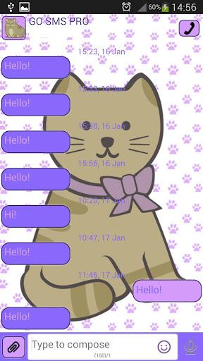 GO短信可爱的猫