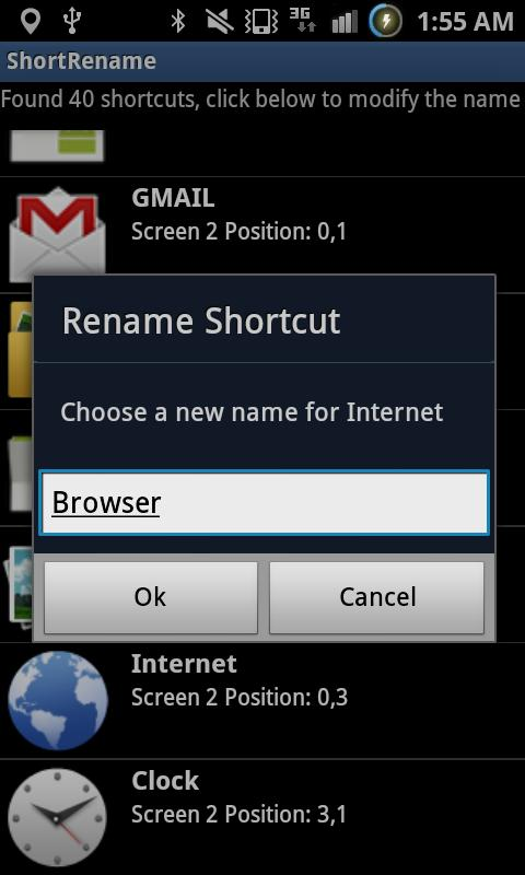 Shortcut Renamer - Rename Apps - screenshot