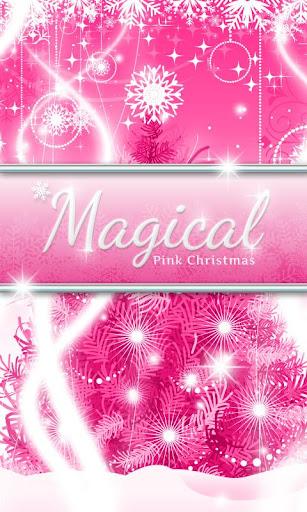 Magical Pink Christmas GO SMS