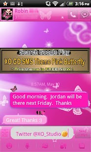Butterfly theme for GOLauncher- screenshot thumbnail