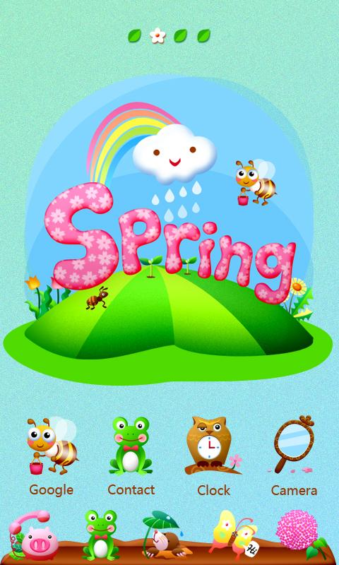 Spring_GO Launcher Theme - screenshot