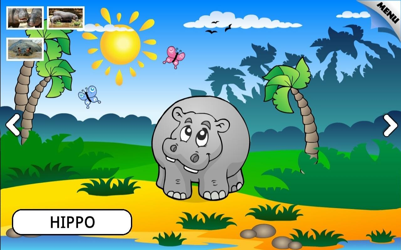 zoo and farm animals for kids screenshot
