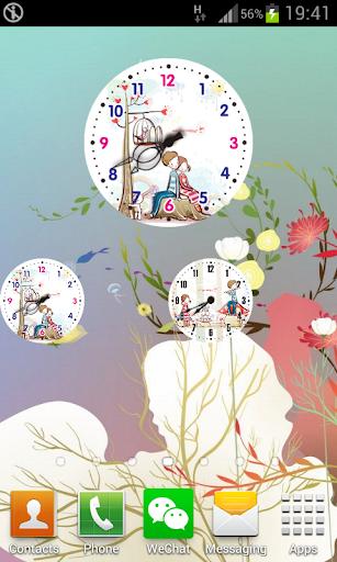 Lovers Theme Clock