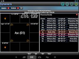Screenshot of Ephemeris, Astrology Software