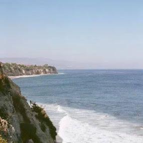 Malibu Beachside by Angela Theresa Egic - Landscapes Beaches ( california, waves, malibu, beach, rocks,  )