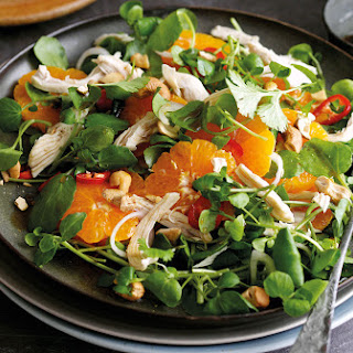 Shredded Chicken And Clementine Salad With Sweet Soy Dressing