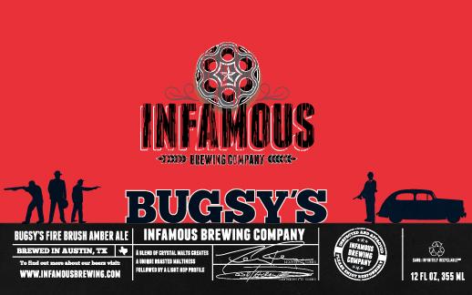 Logo of Infamous Bugsy's Firebrush Amber