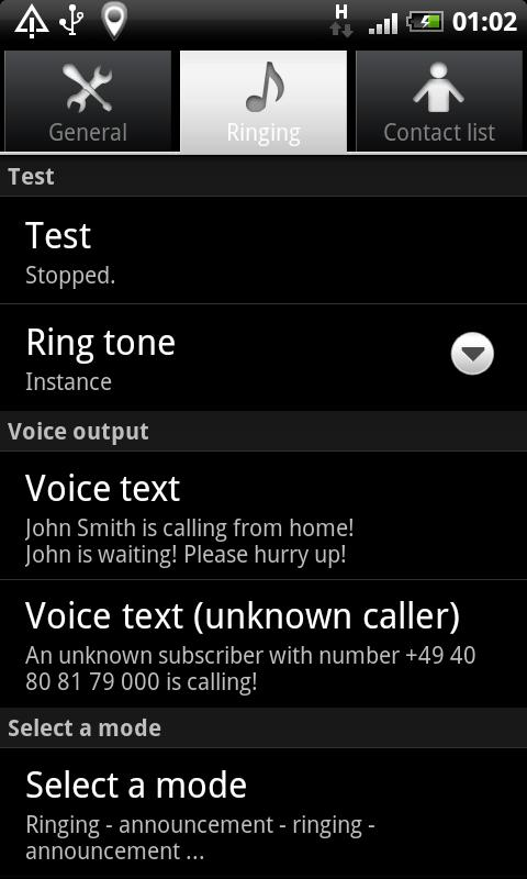 Speaking Ring Tone - screenshot