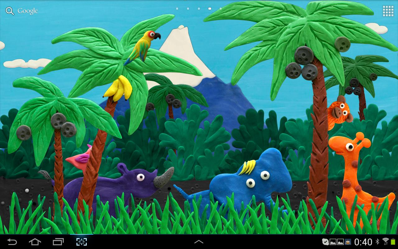 Plasticine jungle live wallpaper v1.0.5 android by mentalcracks